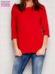 Bluzka oversize ze skrzyżowaniem na plecach czerwona