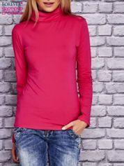 Bluzka z golfem różowa