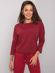 Bordowa bluzka Fiona