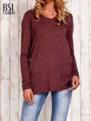 Bordowa bluzka z rozporkami z boku