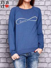 Ciemnoniebieska bluza z napisem LOVE