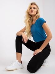 Ciemnoniebieski damski t-shirt