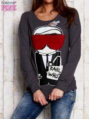 Ciemnoszara bluza z komiksowym nadrukiem