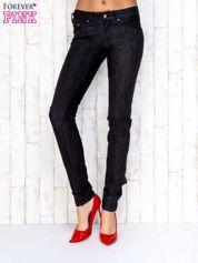 Ciemnoszare przecierane spodnie jeansowe regular jeans