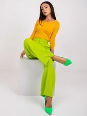 Ciemnożółta bawełniana bluzka basic