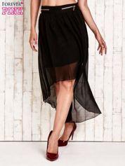 Czarna asymetryczna spódnica z suwakami