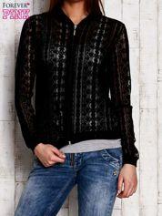 Czarna ażurowa bluzka na suwak