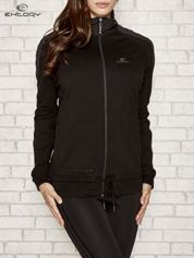 Czarna bluza sportowa fitness z wiązaniem