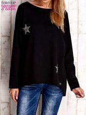 Czarna bluza z błyszczącymi gwiazdkami