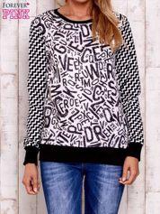 Czarna bluza z nadrukiem liter i graficznym tyłem