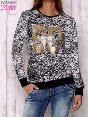 Czarna bluza ze złotym nadrukiem 90