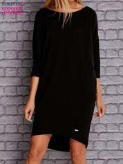 Czarna gładka sukienka oversize