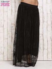 Czarna koronkowa spódnica maxi