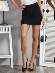 Czarna spódnica damska w paski