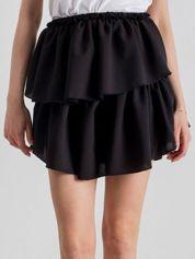 Czarna spódnica mini z falbanami