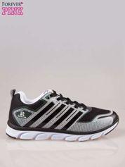 Czarne buty sportowe damskie z elastyczną podeszwą