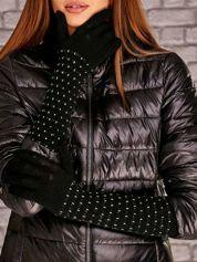 Czarne rękawiczki w drobne wzory FUNK N SOUL
