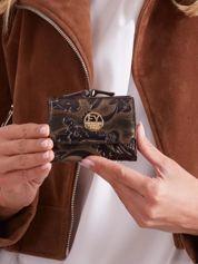 Czarno-brązowy damski mały portfel