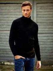 Czarny męski sweter z golfem FUNK N SOUL