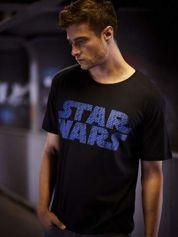 Czarny t-shirt męski z nadrukiem STAR WARS