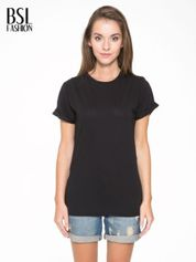 Czarny t-shirt z napisem MARGIELA 47 na plecach