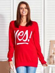 Czerwona bluza damska YES