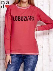 Czerwona bluza z napisem ŁOBUZIARA