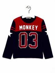 Czerwona bluzka chłopięca z napisem MONKEY 03