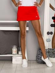 Czerwone gładkie spodenki spódniczka tenisowa