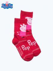 Czerwone skarpetki dla dziewczynki ŚWINKA PEPPA