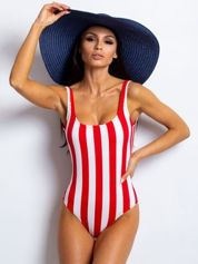 Czerwono-biały strój kąpielowy Copacabana