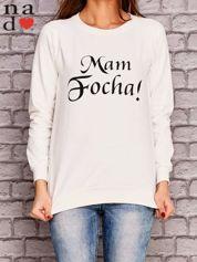 Ecru bluza z napisem MAM FOCHA