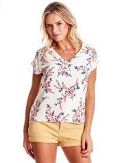 Ecru bluzka z motywem kwiatu wiśni
