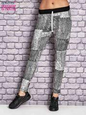 Ecru ocieplane spodnie dresowe