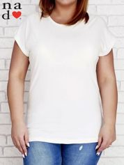 Ecru t-shirt basic PLUS SIZE