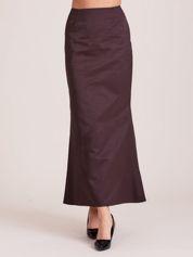Elegancka rozszerzana spódnica maxi brązowa