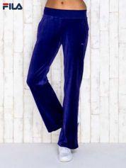 FILA Fioletowe welurowe spodnie dresowe