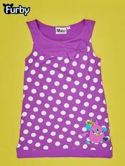 Fioletowa sukienka w groszki dla dziewczynki FURBY