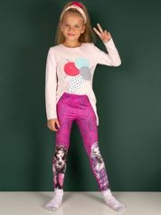 Fuksjowe legginsy dla dziewczynki EVER AFTER HIGH