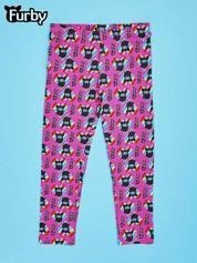 Fuksjowe legginsy dla dziewczynki z nadrukiem FURBY