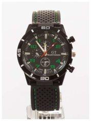 GT Czarno-zielony sportowy zegarek męski GRAND TOURING