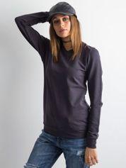 Grafitowa bluza damska basic