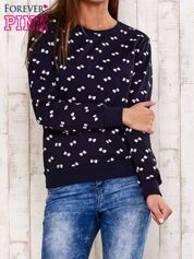 Granatowa bluza motyw kokardek