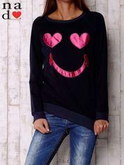 Granatowa bluza z motywem emoji