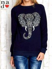 Granatowa bluza z nadrukiem słonia