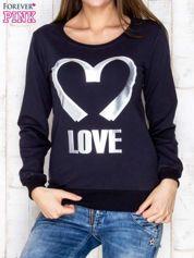 Granatowa bluza z napisem LOVE