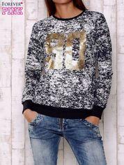 Granatowa bluza ze złotym nadrukiem 90
