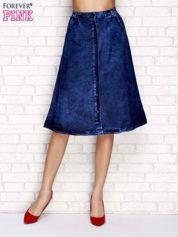 Granatowa jeansowa spódnica midi