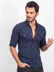 Granatowa koszula męska Exactly