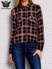 Granatowa koszula w kratkę